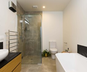 Modern bathroom with quality European bathroomware